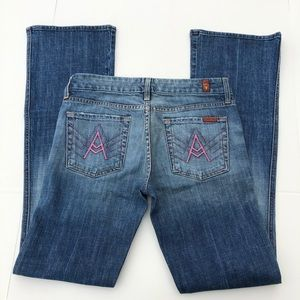 "7 For All Mankind ""A"" Pocket Bootcut Jeans size 29"